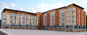 Rendered image of Resisdentail/Retail development located in Killarney, Kerry