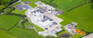 Arial view of Danone Factory located in Macroom, Cork