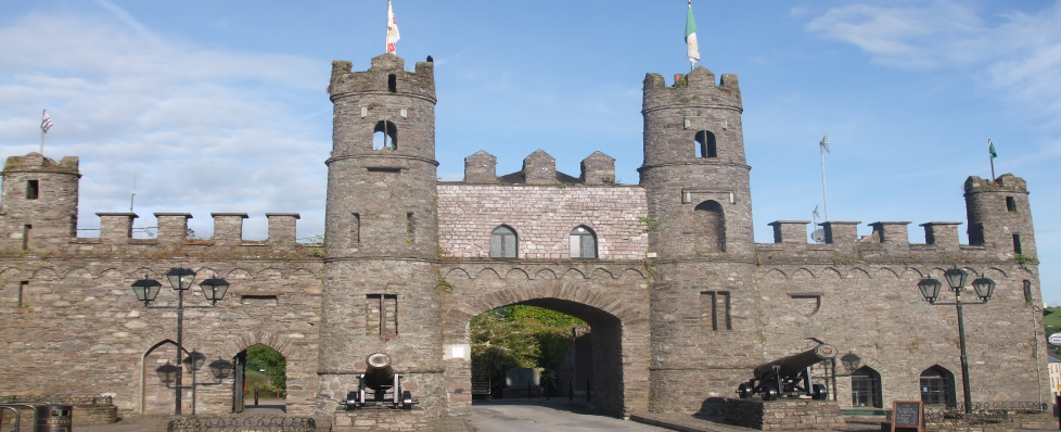 Front elevation view of Castle Gates located in Macroom, Cork, Ireland