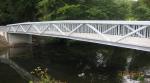 Pedestrian bridge over the River Sullane in Macroom, Cork, Ireland