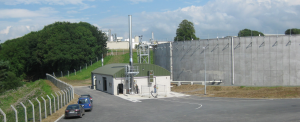 Elevation view of Low Rate Anaerobic Digester Tank
