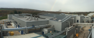 Panorama image of Kerry Foods Butter Factory located in Osset, UK
