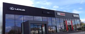 Front elevation view of Lehane Motors located in Kinsale Road, Cork