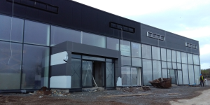 Construction of an Extension to the Existing Warehouse to form part of the New Vehicle Showroom, Kinsale Road, Cork