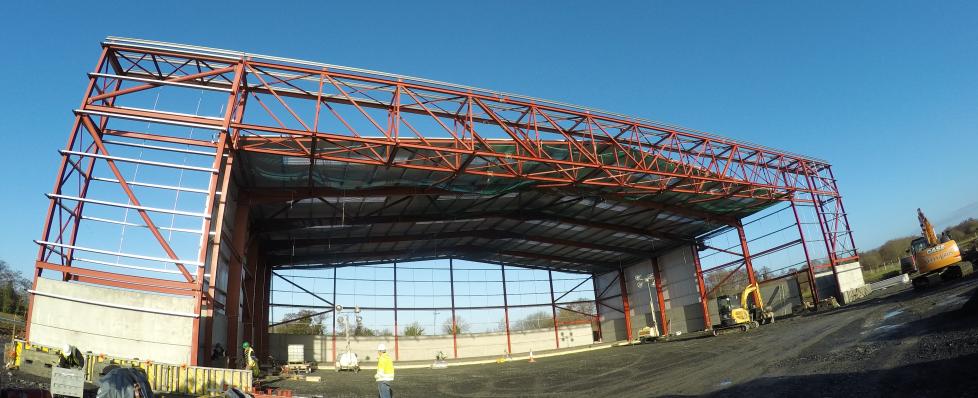 aircraft hanger steelwork kerry